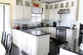 kitchens with white cabinets and black appliances. Kitchen Design White Cabinets Black Appliances Kitchens With And W
