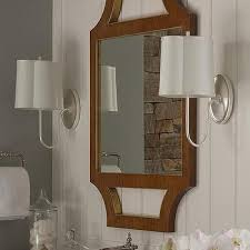 rustic bathroom with barbara barry simple scallop wall sconces