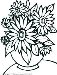 Flower Picture To Color Colouring Pages Printable Free Clown Fish