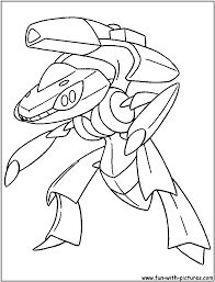 Cloring Pages Genesect Pokemon Colouring Pages