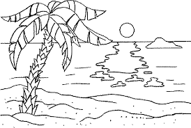 Small Picture Beach coloring pages sunset ColoringStar