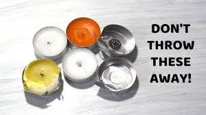 T Lights Empty Tea Light Candle Crafts Diy Aluminium Tin Cups Craft