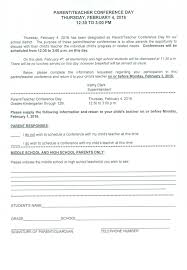 12 13 Parents Conference Forms Jadegardenwi Com