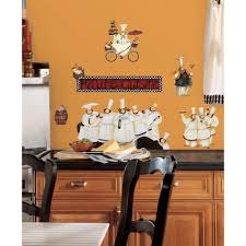 Peel And Stick Wall Decor 18 In X 40 In Chefs 17 Piece Peel And Stick Wall Decals