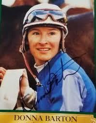 Vintage Donna Barton Horse Racing Jockey Personally Autographed Card | eBay