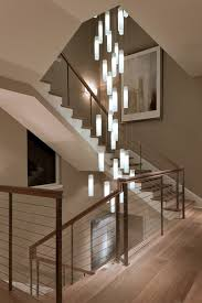 stairwell lighting. tanzania chandelier contemporary living room stairwell light fixture contemporarystaircase lighting o