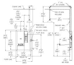 height of shower tub valve ada standard rough plumbing in and bathrooms winning