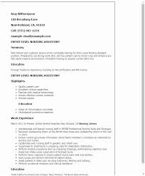 Nursing Assistant Resume Fascinating Cna Resume Examples 28 Certified Nursing Assistant Resume Examples