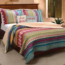Tribal Flair Multicolored Striped Quilt Set &  Adamdwight.com