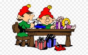 elf clipart work santas elves making toys png