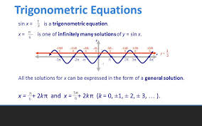 trigonometric equations all the solutions for x can be expressed in the form of a general solution