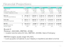 Profit Projections Template Business Plan Financial Forecast Template