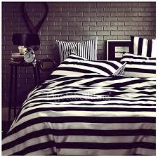 black and white duvet set striped cover