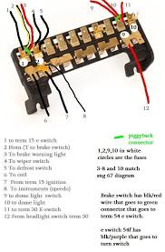 thesamba com type 2 wiring diagrams 1969 bay window fuse box correction also see forum posting