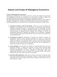 nature and scope of managerial economics notes