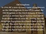 old Kingdom Egypt Political System
