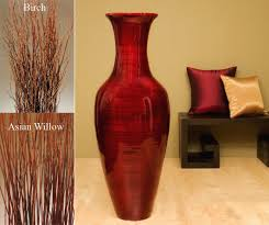 Small Picture 47 Tall Mahogany Red Floor Vase foyer Pinterest Red floor