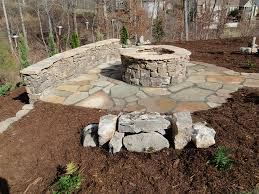 elegant stone patio fire pit stone fire pit and benches a design and ideas