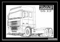 Kleurplaten Daf Oldtimer Trucks Dotc