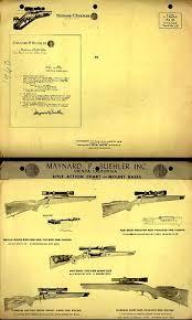 Buehler Scope Mount Chart 1958 Buehler Scope Mount Rifle Chart Vintage Gun Catalogs
