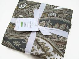 details about pottery barn cotton multi colors anton paisley full queen duvet cover new
