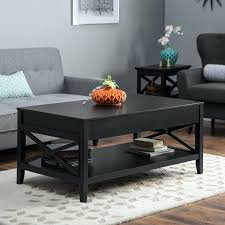 living lift top coffee table black glass with 3 drawers room furniture