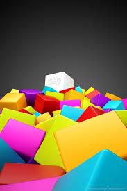 cool 3d colorful cubes
