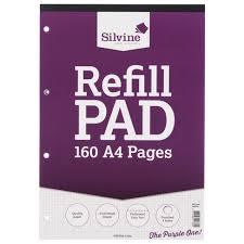 Silvine A4 Graph Refill Pad
