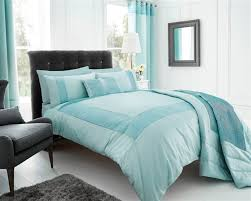 duck egg blue stylish textured faux silk duvet cover luxury beautiful pintuck bedding 8808 p jpg