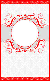 Border Designs For Wedding Programs Wedding Program Cover Template 13d