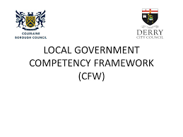 how works local government competency framework cfw objectives for this