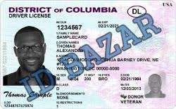 Columbia Driver Distric Template Of Psd License