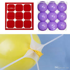 hot plastic party balloons grids for birthday 9 holes wall