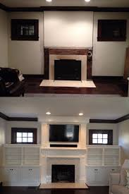 Fireplace Built Ins Before And After Built Ins Around Our Fireplace Mix Of White