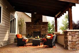 Covered Patio With Fire Pit Houston Covered Patio With Fire Pit