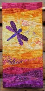 30 best QUILT Batik Fabrics images on Pinterest | Quilting ... & Dragonfly quilted wall hanging - kit now available! Adamdwight.com