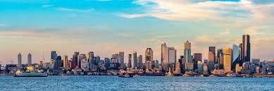 Seattle Cityscape Seattle Skyline From West Seattle Day