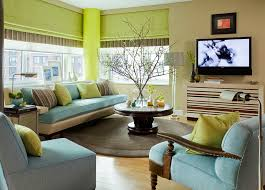 Captivating Small Living Room In Blue And Green Design Willey Llc Photo