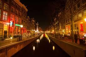 Red Light District Rotterdam Amsterdam Canal Lights Night Nightlife Red Light