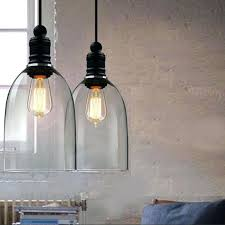 details about modern vintage industrial hanging clear glass ceiling lamp pendant light shade shades
