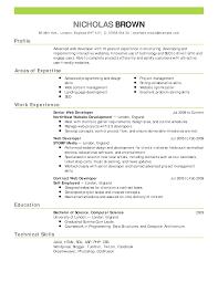 Resume Templates Open Office Template Design