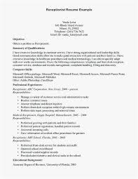 Resume For Receptionist With No Experience Examples Welding Resume