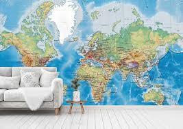 3d classic world map 452 wall paper wall print decal deco indoor wall mural ca