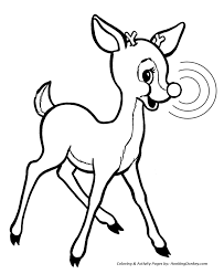 Small Picture Rudolph the Red Nose Reindeer Coloring Page Rudolph is smart and