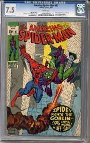 amazing spider man 97 cgc 7 5 white pages