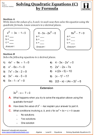 maths revision ks3 year worksheets free exercises addition word solving quadratic equations quadratic equations and functions lessons tes teach