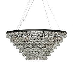 celeste tapered glass drop crystal chandelier black