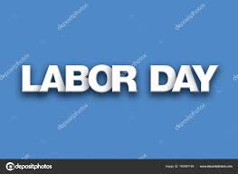 labor day theme labor day theme word art on colorful background stock photo