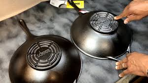 the new lodge cast iron wok unboxing comparison