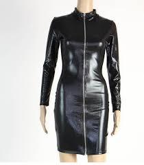 home dresses skirts dresses wonder beauty y black club wear vinyl wet look long sleeve cut out faux leather women midi dress